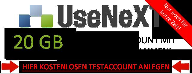 Usenext 40GB Testaccount