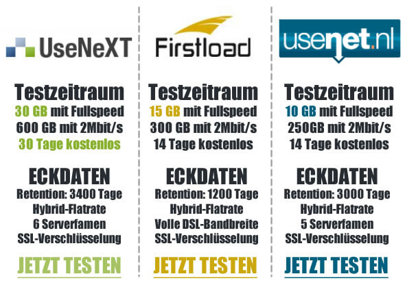 Usenet Provider Vergleich 2015