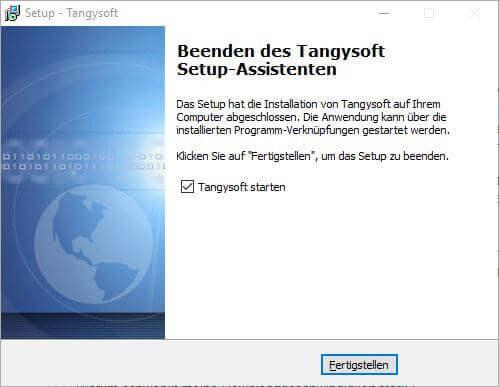 Tangysoft Installation Probleme