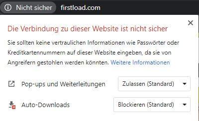 Firstload ohne SSL